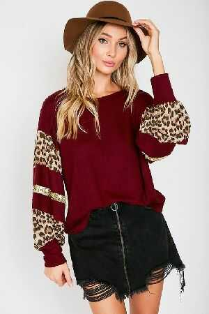 Leopard Contrast and Sequin Trim
